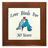 Cute 20th wedding anniversary Framed Tile