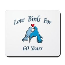 Cute 60th wedding anniversary Mousepad