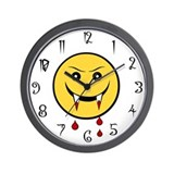 Vampire Smiley Wall Clock