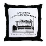 Anaheim Drive-In Theatre Throw Pillow
