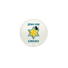 Jews for Cheeses Mini Button (10 pack)