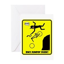BMX JUMPIN' WARNING Cards, Bags, Aprons, Pet stuff