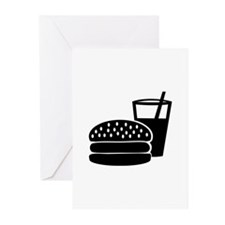 Fast food - Burger Greeting Cards (Pk of 10)