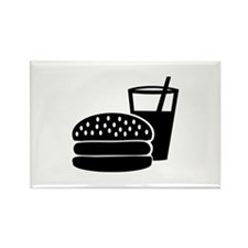 Fast food - Burger Rectangle Magnet