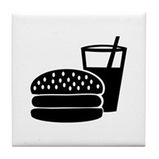 Fast food - Burger Tile Coaster
