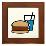 Fast food - Burger Framed Tile