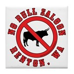 No Bull Saloon 1 Tile Coaster
