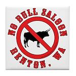 No Bull Saloon 1 Tile Coaster