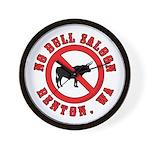 No Bull Saloon 1 Wall Clock