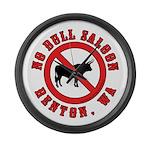No Bull Saloon 1 Large Wall Clock