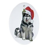 Alaskan Malamute Christmas Ornament (Oval)