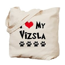 I Love My Vizsla Tote Bag