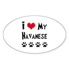 I Love My Havanese Decal
