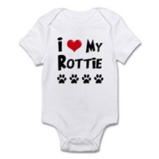 I Love My Rottie Infant Bodysuit