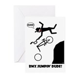 BMX JUMPIN' DUDE Cards, Bags, Greeting Cards (Pk o