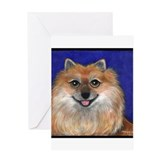 "Pomeranian ""Rio"" Greeting Card"