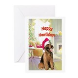 Airedale Christmas Greeting Cards (Pk of 10)
