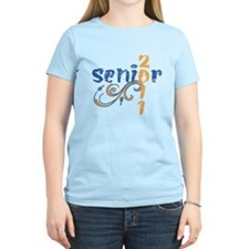 Pink Senior 11 Paws T-Shirt