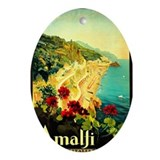 Vintage Amalfi Italy Travel Ornament (Oval)