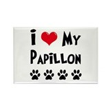 I Love My Papillon Rectangle Magnet (100 pack)