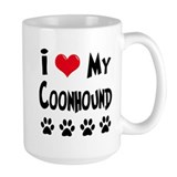 I Love My Coonhound Ceramic Mugs