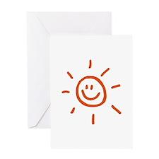 Sun Greeting Card