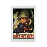 Don't Get Hurt Poster Art Rectangle Magnet (10 pac