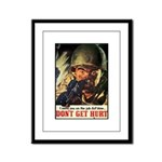 Don't Get Hurt Poster Art Framed Panel Print