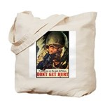 Don't Get Hurt Poster Art Tote Bag