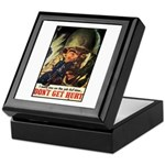 Don't Get Hurt Poster Art Keepsake Box