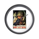 Don't Get Hurt Poster Art Wall Clock