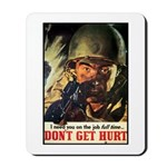 Don't Get Hurt Poster Art Mousepad