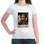 Don't Get Hurt Poster Art Jr. Ringer T-Shirt