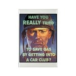Save Gas Poster Art Rectangle Magnet