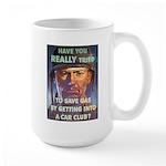 Save Gas Poster Art Large Mug