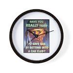 Save Gas Poster Art Wall Clock