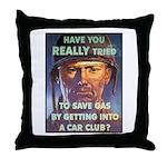Save Gas Poster Art Throw Pillow