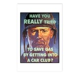 Save Gas Poster Art Postcards (Package of 8)