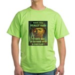 Save Gas Poster Art (Front) Green T-Shirt