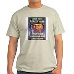 Save Gas Poster Art Ash Grey T-Shirt