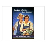 Work on the Farm Small Poster