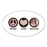 Peace Love Galileo Decal