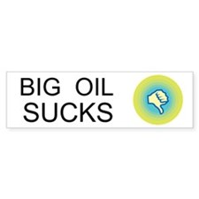 Big Oil Sucks Custom Car Sticker