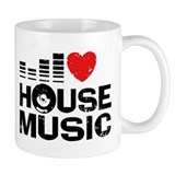 I Love House Music Small Mug