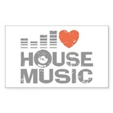 I Love House Music Decal