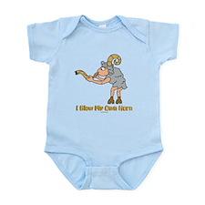 Blow Own Horn Funny Jewish Infant Bodysuit