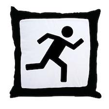 Runner - running Throw Pillow