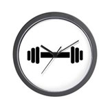 Barbell - weightlifting Wall Clock