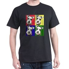 Color Block Schnauzer Black T-Shirt