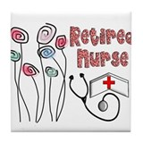 Retired Nurse Tile Coaster